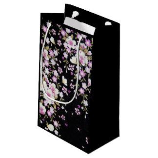 Bolsa De Regalo Pequeña Falln que conecta en cascada las flores rosadas