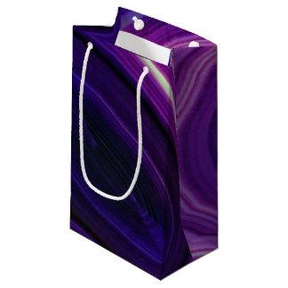 Bolsa De Regalo Pequeña Falln remolinó Geode púrpura