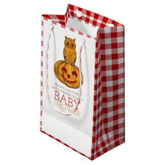 Bolsa De Regalo Pequeña Fiesta de bienvenida al bebé del búho y de la