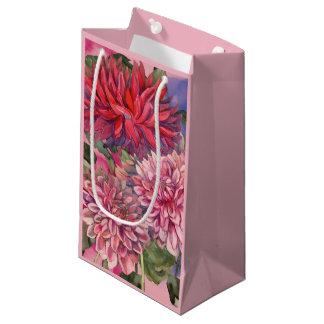 Bolsa De Regalo Pequeña flores de las dalias