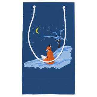 Bolsa De Regalo Pequeña Fox de la noche del invierno