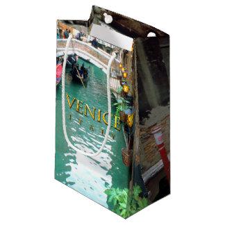Bolsa De Regalo Pequeña Góndolas en un canal veneciano
