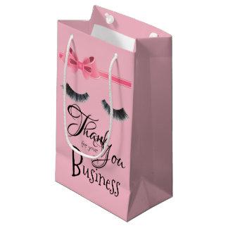 Bolsa De Regalo Pequeña Gracias por su bolso del regalo de las pestañas