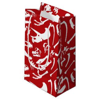 Bolsa De Regalo Pequeña Huesos de dinosaurio (rojos)