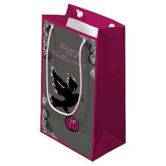 Bolsa De Regalo Pequeña ilustracion de Halloween de un cuervo y de una