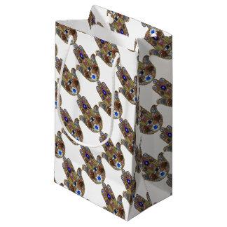 Bolsa De Regalo Pequeña Impresión del ópalo del arte de las flores de los