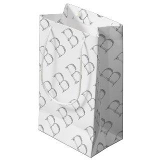 Bolsa De Regalo Pequeña Inicial del hueso de la letra B