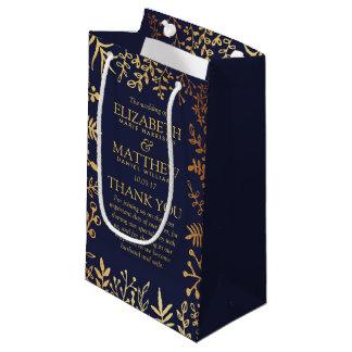 Bolsa De Regalo Pequeña La colección floral elegante del boda de la marina
