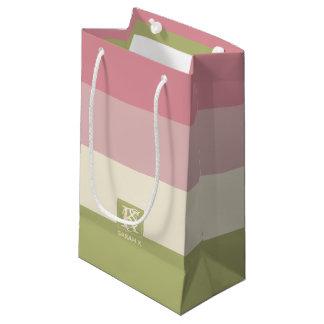 Bolsa De Regalo Pequeña La paleta de colores verde color de rosa poner