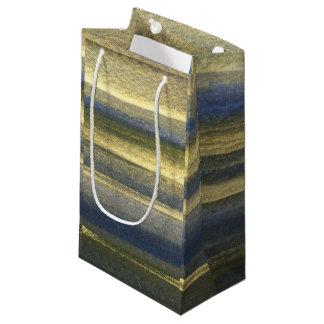 Bolsa De Regalo Pequeña Líneas azules bolso de encargo del oro del regalo