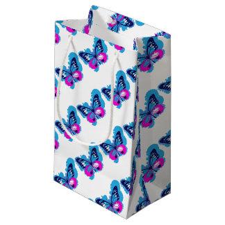 Bolsa De Regalo Pequeña Mariposa del azul del arte pop