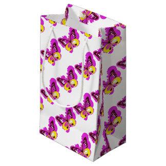 Bolsa De Regalo Pequeña Mariposa del rosa del arte pop
