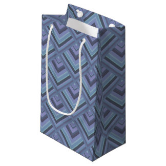 Bolsa De Regalo Pequeña modelo Azul-gris de la escala de las rayas