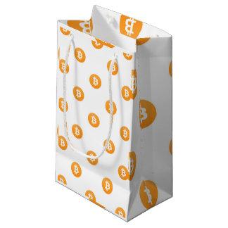 Bolsa De Regalo Pequeña Modelo del logotipo de Bitcoin