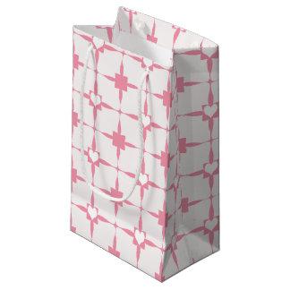 Bolsa De Regalo Pequeña Modelo rosado y blanco del el día de San Valentín