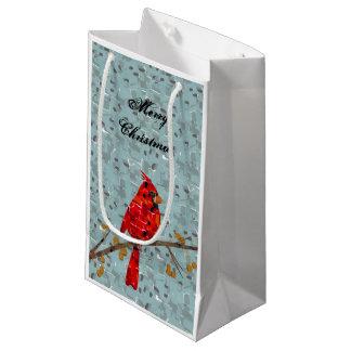 Bolsa De Regalo Pequeña Mosaico cardinal rojo