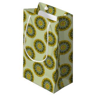 Bolsa De Regalo Pequeña Naturaleza del girasol, Flor-Mandala