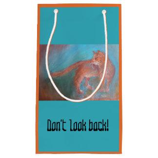 Bolsa De Regalo Pequeña No mire detrás el bolso del regalo del gato