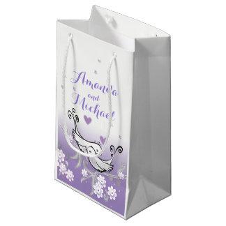 Bolsa De Regalo Pequeña Pájaros en colores pastel del amor que casan el