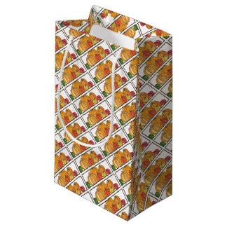 Bolsa De Regalo Pequeña Papel de regalo anaranjado del remiendo de la