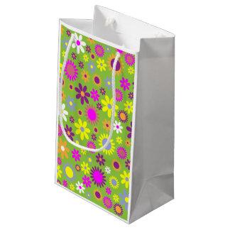 Bolsa De Regalo Pequeña Pequeño bolso floral retro del regalo