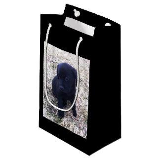 Bolsa De Regalo Pequeña Perrito negro del labrador retriever