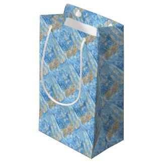 Bolsa De Regalo Pequeña Pintura azul abstracta