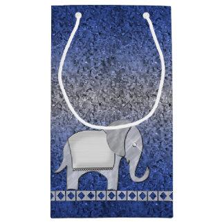 Bolsa De Regalo Pequeña Plata ID390 del monograma del paseo del elefante