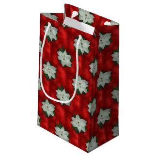 Bolsa De Regalo Pequeña Poinsettia del navidad
