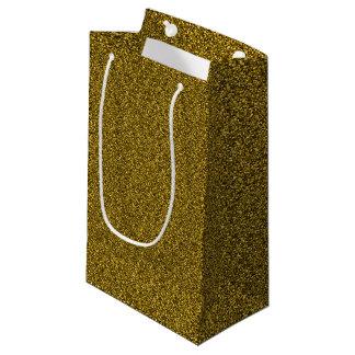 Bolsa De Regalo Pequeña Purpurina del oro