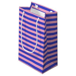 Bolsa De Regalo Pequeña Rayas azules y rosadas