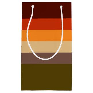 Bolsa De Regalo Pequeña Rayas del color de la caída
