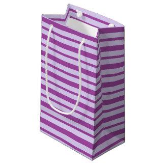 Bolsa De Regalo Pequeña Rayas púrpuras gruesas y finas