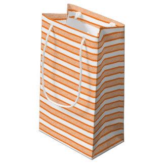 Bolsa De Regalo Pequeña Rayas resumidas anaranjadas