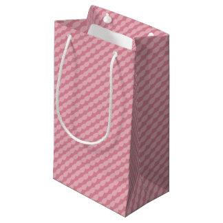 Bolsa De Regalo Pequeña Rayas rosadas del pétalo