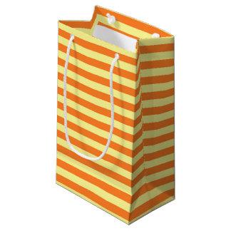 Bolsa De Regalo Pequeña Rayas suavemente amarillas y anaranjadas