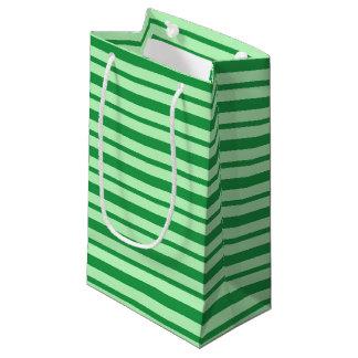 Bolsa De Regalo Pequeña Rayas verdes gruesas y finas