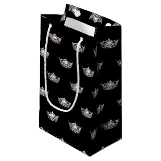 Bolsa De Regalo Pequeña Regalo de plata de la corona de Srta. América