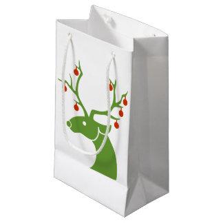 Bolsa De Regalo Pequeña Reno con el bolso del regalo de los ornamentos