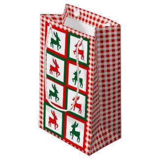 Bolsa De Regalo Pequeña Reno del navidad