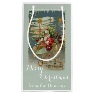 Bolsa De Regalo Pequeña Santa y su bolso de encargo asombroso del regalo