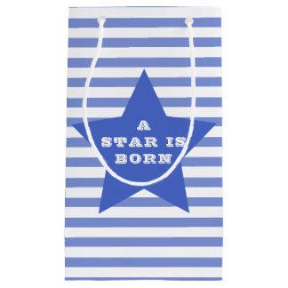 Bolsa De Regalo Pequeña Una estrella es estrella azul nacida del | y raya