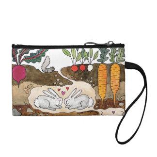 Bolsa del accesorio de los conejitos del amor
