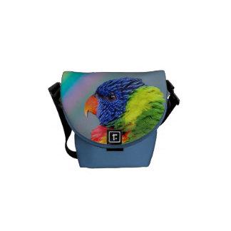 Bolsa Messenger Arco iris Lorikeet