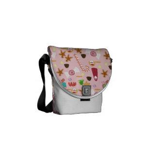 Bolsa Messenger Bastones y chocolates de caramelo en rosa
