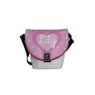 Bolsa Messenger Bolso rosado adaptable del Mini-Mensajero del