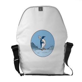 Bolsa Messenger Línea del círculo de Antartica de la pala del
