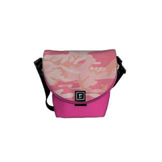 Bolsa Messenger Mini bolso del messneger del camuflaje rosado del