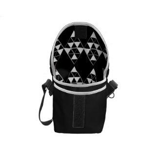 Bolsa Messenger Mini impresión oscura geométrica del interior de