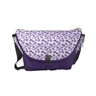 Bolsa Messenger Modelo de puntos púrpura grande